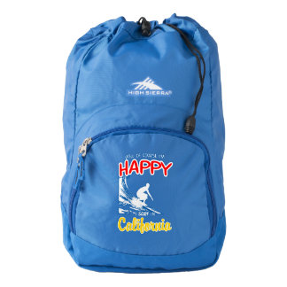 Happy Surfer CALIFORNIA (Wht) Backpack