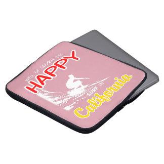 Happy Surfer CALIFORNIA (Wht) Laptop Sleeve