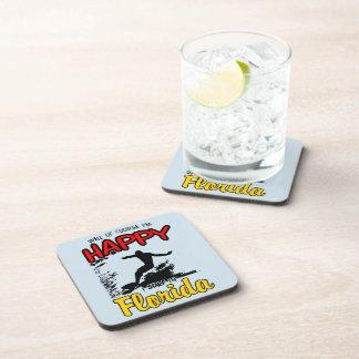 Happy Surfer FLORIDA (blk) Coaster
