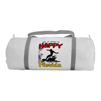 Happy Surfer FLORIDA (blk) Gym Bag