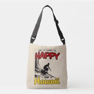 Happy Surfer HAWAII (blk) Crossbody Bag