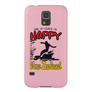Happy Surfer NEW ZEALAND (Blk) Galaxy S5 Cover