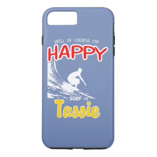 Happy Surfer TASSIE (Wht) iPhone 8 Plus/7 Plus Case