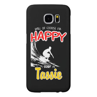 Happy Surfer TASSIE (Wht) Samsung Galaxy S6 Cases