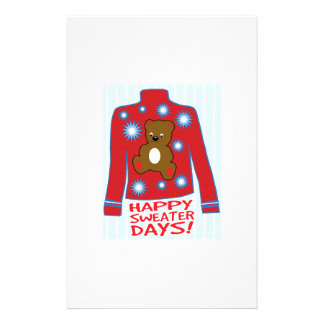 Happy Sweater Day Custom Stationery