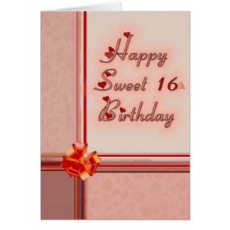 Happy Sweet 16th. Birthday Card