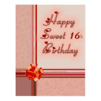 Happy Sweet 16th. Birthday Postcard