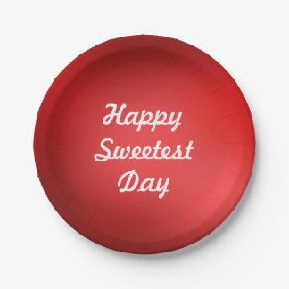 Happy Sweetest Day Paper Plate