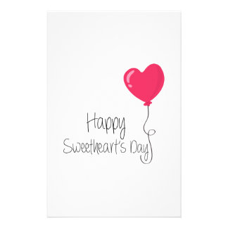 Happy Sweetheart's Day Customized Stationery