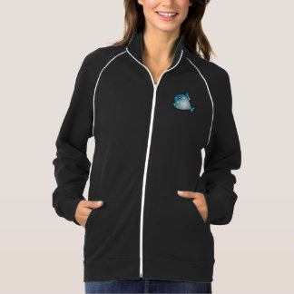 Happy Swimming Fish Fleece Track Jacket