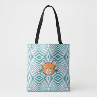 """Happy Tabby"" Cute Cat Bag"