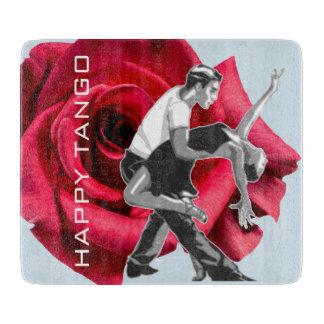 Happy Tango Glass Cutting Board