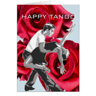 HAPPY TANGO Greeting Card