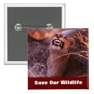 Happy Tau Save Our Wildlife 15 Cm Square Badge