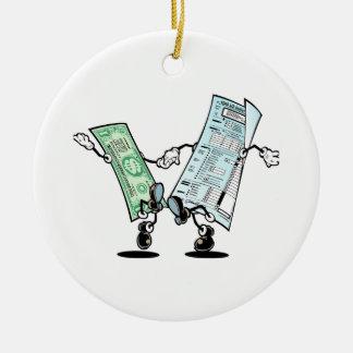 happy tax day ceramic ornament
