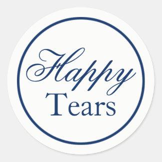 """Happy Tears"" Wedding Sticker - Navy"