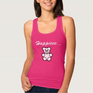 Happy Teddy Bear Pink T-shirt For Women