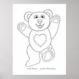 Happy Teddy Poster