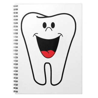 Happy teeth customizable for your Dental practice Notebook