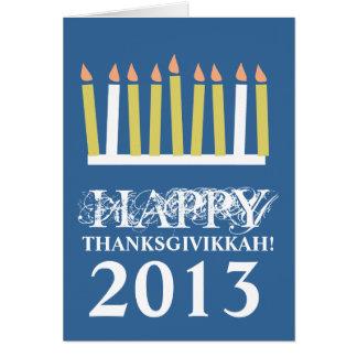 Happy Thanksgivikkah Greeting Card