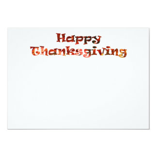 Happy Thanksgiving 13 Cm X 18 Cm Invitation Card