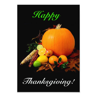 Happy Thanksgiving 13 Cm X 18 Cm Invitation Card