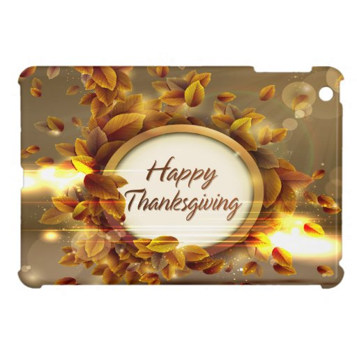 Happy Thanksgiving 3 Cover For The iPad Mini