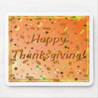 Happy Thanksgiving 3 Mouse Pad