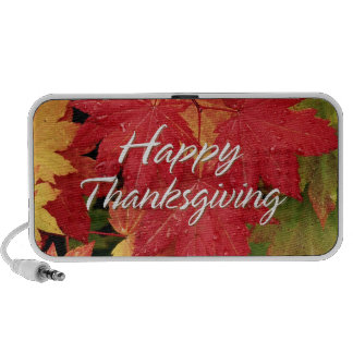 Happy Thanksgiving 8 Doodle Notebook Speakers