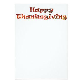 Happy Thanksgiving 9 Cm X 13 Cm Invitation Card