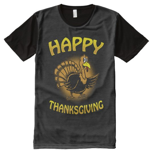 Happy Thanksgiving All-Over Print T-Shirt