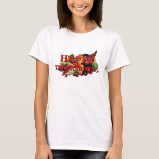 Happy Thanksgiving Autumn Harvest Cornucopia Fall T-Shirt