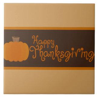 Happy Thanksgiving Autumn Pumpkin Ceramic Tile