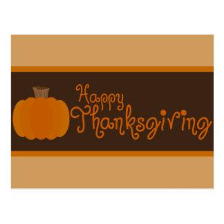 Happy Thanksgiving Autumn Pumpkin Postcard