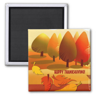 Happy Thanksgiving. Autumn Scenery Gift Magnet