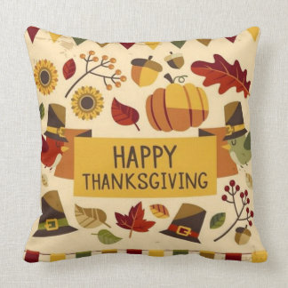 Happy Thanksgiving Banner Cushion