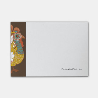 Happy Thanksgiving Beautiful Turkey Card Post-it Notes