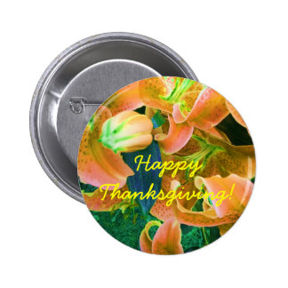 Happy Thanksgiving Button Pins