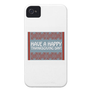 Happy Thanksgiving Case-Mate iPhone 4 Case