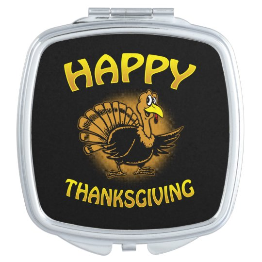Happy Thanksgiving Compact Mirror