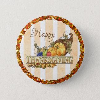 Happy Thanksgiving Cornucopia  Button