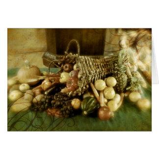 Happy Thanksgiving Cornucopia Greeting Card