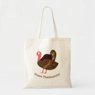 Happy Thanksgiving! Cute Turkey Budget Tote Bag