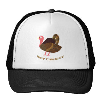 Happy Thanksgiving Cute Turkey Mesh Hat