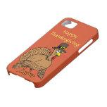 Happy Thanksgiving Cute Turkey Pilgrim Cartoon