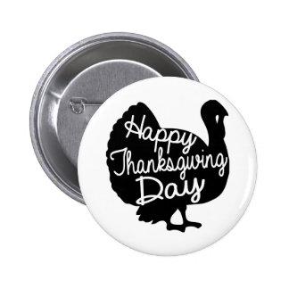 Happy Thanksgiving Day 6 Cm Round Badge