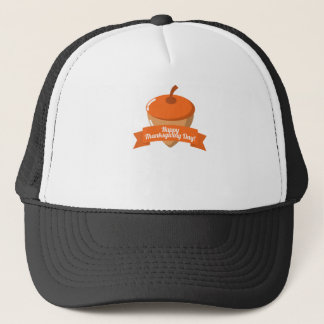 Happy Thanksgiving Day Chestnut Design Trucker Hat