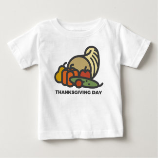 Happy Thanksgiving Day Cornucopia Design Baby T-Shirt