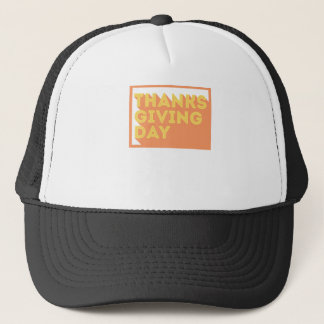 Happy Thanksgiving Day Design Trucker Hat