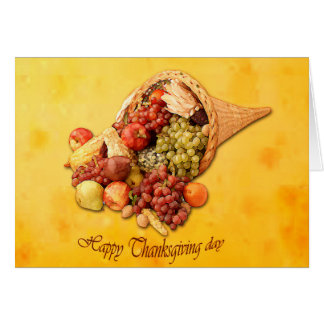 Happy Thanksgiving day greeting card. Greeting Card